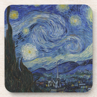 Original the starry night paint coaster