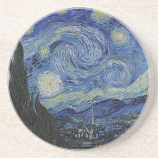 Original the starry night paint drink coasters