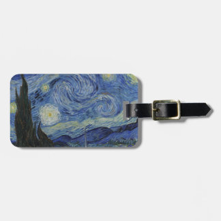 Original the starry night paint luggage tag