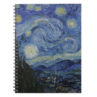 Original the starry night paint notebook