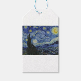 Original the starry night paint pack of gift tags
