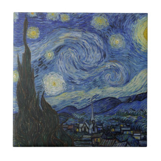 Original the starry night paint tile