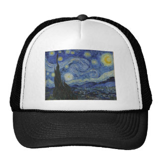 Original the starry night paint trucker hat