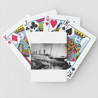 original titanic picture under construction bicycle playing cards
