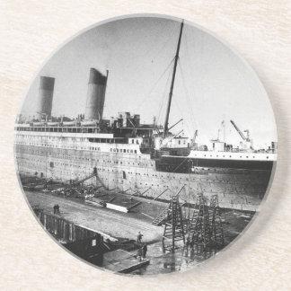 original titanic picture under construction coaster