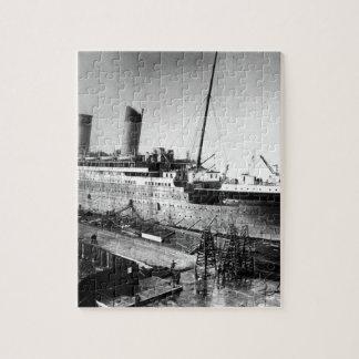 original titanic picture under construction jigsaw puzzle