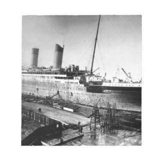 original titanic picture under construction notepad