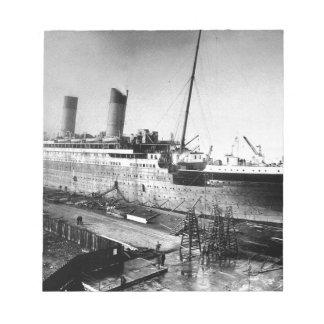 original titanic picture under construction notepads