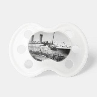 original titanic picture under construction pacifier