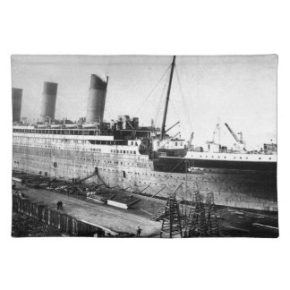 original titanic picture under construction placemat