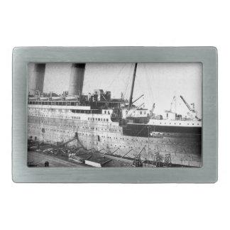original titanic picture under construction rectangular belt buckles