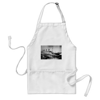 original titanic picture under construction standard apron