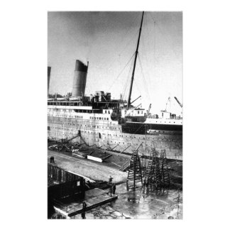 original titanic picture under construction stationery