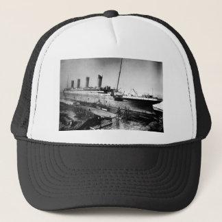 original titanic picture under construction trucker hat