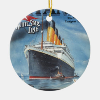 Original titanic vintage poster 1912 ceramic ornament