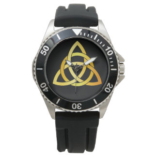 Original Triquetra circle celtic knot Ireland gold Watch