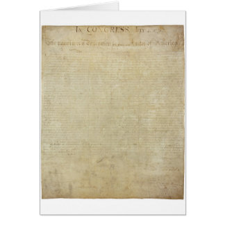 Original United States Declaration of Independence Card