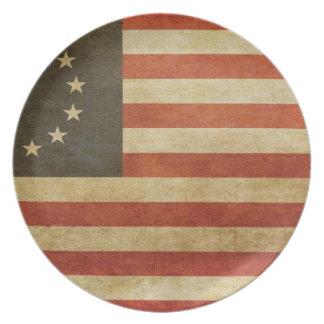 Original United States Flag Plate