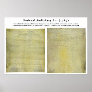 ORIGINAL United States Judiciary Act of 1789 Poster