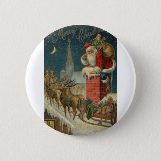 Original vintage 1906 Santa clous poster 2 Inch Round Button