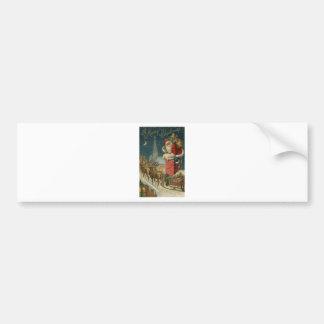 Original vintage 1906 Santa clous poster Bumper Sticker