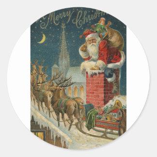 Original vintage 1906 Santa clous poster Classic Round Sticker
