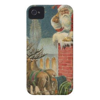 Original vintage 1906 Santa clous poster iPhone 4 Case-Mate Case