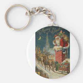Original vintage 1906 Santa clous poster Keychain