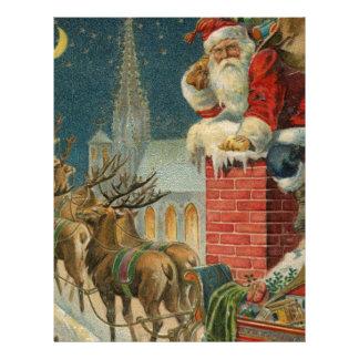 Original vintage 1906 Santa clous poster Letterhead