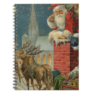 Original vintage 1906 Santa clous poster Notebook