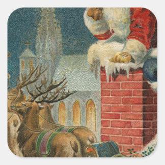 Original vintage 1906 Santa clous poster Square Sticker