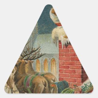 Original vintage 1906 Santa clous poster Triangle Sticker