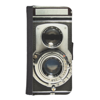 Original vintage camera iPhone SE/5/5s wallet case