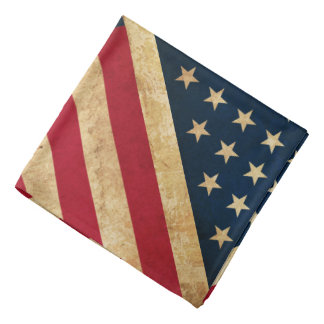 Original Vintage Grunge Stars and Stripes USA flag Bandana