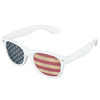 Original Vintage Grunge Stars and Stripes USA flag Retro Sunglasses
