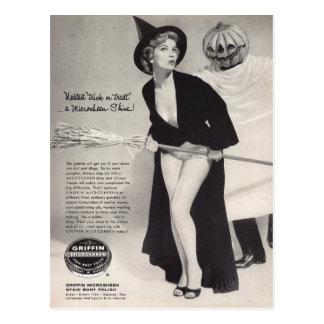 Original vintage halloween  (Griffin ads) Postcard