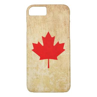 Original Vintage Patriotic canadian red leaf iPhone 8/7 Case