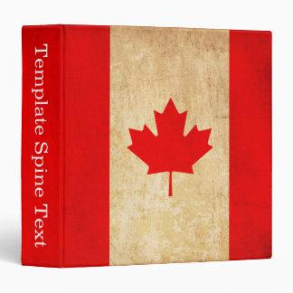 Original Vintage Patriotic National Flag of CANADA 3 Ring Binder