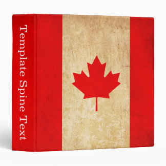 Original Vintage Patriotic National Flag of CANADA Binders