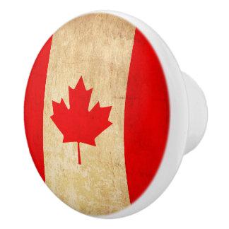 Original Vintage Patriotic National Flag of CANADA Ceramic Knob
