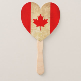 Original Vintage Patriotic National Flag of CANADA Hand Fan