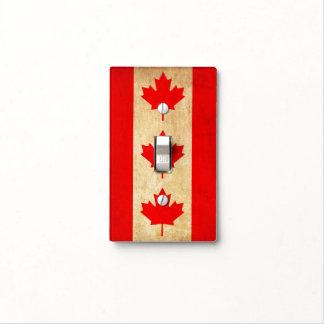 Original Vintage Patriotic National Flag of CANADA Light Switch Cover