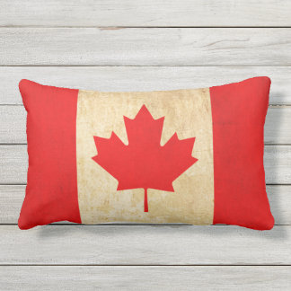 Original Vintage Patriotic National Flag of CANADA Outdoor Pillow