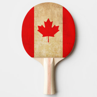 Original Vintage Patriotic National Flag of CANADA Ping Pong Paddle