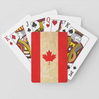 Original Vintage Patriotic National Flag of CANADA Playing Cards