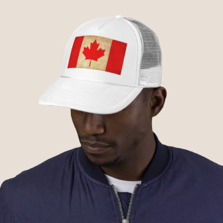 Original Vintage Patriotic National Flag of CANADA Trucker Hat
