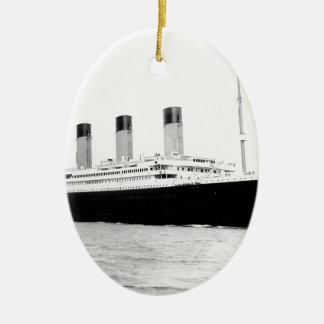 Original vintage photo of Titanic Ceramic Oval Ornament