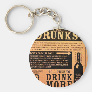 Original vintage poster cure for drunks 1900s basic round button keychain
