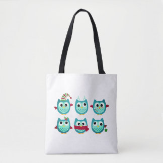 Original vintage style. With cute winter Owls Tote Bag