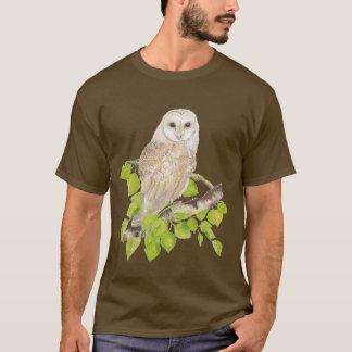 Original Watercolor Barn Owl Nature T-Shirt
